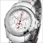 FIREFOX Aluminium Chronograph Blatt weiß FFA01-101