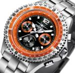 FIREFOX FIGHTER Herren Chronograph FFS05-107 schwarz/orange