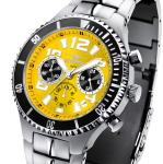 FIREFOX SILVER SURFER Chronograph Armbanduhr FFS13-108b sunraygelb