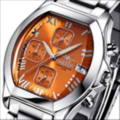 FIREFOX Damenuhr Chronograph NEBUKADNEZAR FFS175-107 sunray orange Miyota OS10
