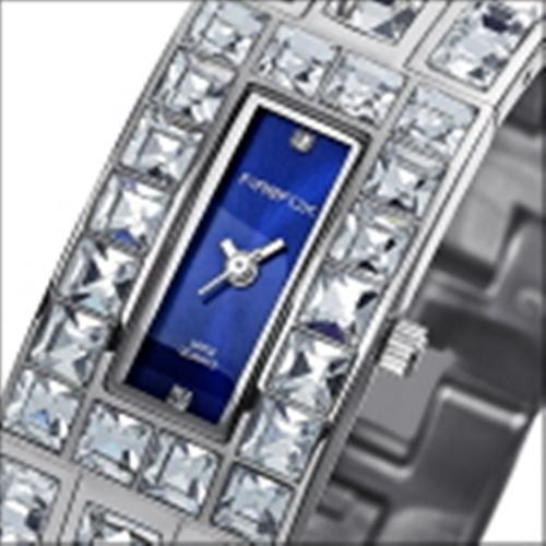 FIREFOX Damenuhr Edelstahl Zirkoniasteine FFS178-103 sunray blau