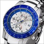FIREFOX Stahl Chronograph FFS18-103 Blatt silber/blau