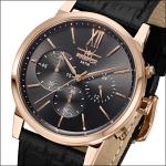 FIREFOX Herrenuhr Chronograph Armbanduhr rosevergoldet FFS275-110 schwarz 5 ATM