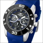 FIREFOX RUBBER THING Herrenuhr Edelstahl Chronograph FFS310-103 blau