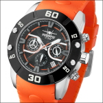 FIREFOX RUBBER THING Herrenuhr Edelstahl Chronograph FFS310-107 orange
