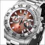 FIREFOX GLOBALIZER Chronograph FFS35-106 kastanienbraun