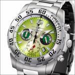 FIREFOX Damen- Herrenuhr GLOBALIZER Chronograph FFS35-108 smaragdgrün
