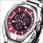 FIREFOX THE THING Herrenuhr Chronograph FFS60-105 bordeaux rot Miyota 5 ATM