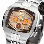 FIREFOX Herrenuhr Chronograph GIANT FFS65-110 beige/braun Miyota OS20 5ATM