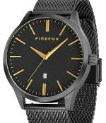 FIREFOX Edelstahl Herrenuhr XCHANGE FFPL01-001 SCHWARZ Mesh Armband