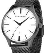 FIREFOX XCHANGE Edelstahl Herrenuhr FFPL01-003 SCHWARZ weiß Mesh Armband