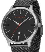 FIREFOX XCHANGE Edelstahl Herrenuhr FFPL01-004 Mesh Armband schwarz