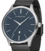 FIREFOX XCHANGE Edelstahl Herrenuhr FFPL01-005 Mesh Armband schwarz