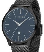 FIREFOX XCHANGE Edelstahl Herrenuhr blau FFPL01-006 Mesh Armband schwarz