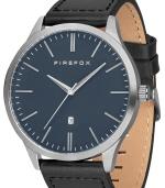 FIREFOX XCHANGE Edelstahl Herrenuhr FFPL01-103 blau Lederarmband schwarz