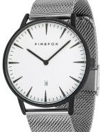FIREFOX PASSION Edelstahl Damen- Herrenuhr schwarz FFPL02-013 Zifferblatt weiß