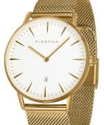 FIREFOX PASSION Edelstahl Damen Herren Uhr Unisex weiß FFPL02-040 vergoldet