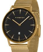 FIREFOX PASSION Edelstahl Damen Herren Uhr schwarz FFPL02-041 vergoldet
