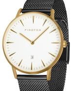 FIREFOX Edelstahl Damen Herren Uhr schwarz PASSION FFPL02-042 gelb vergoldet