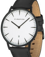 FIREFOX PASSION Damen Herrenuhr Unisex FFPL02-141 SCHWARZ Leder schwarz