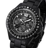 FIREFOX Herren- Armbanduhr FIGHTER Chronograph SCHWARZ FFS05-125