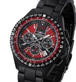 FIREFOX Armband- Herrenuhr Chronograph RACER SCHWARZ-ROT FFS15-120 10 ATM