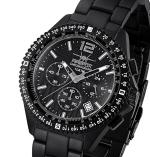 FIREFOX Armband- Herrenuhr Chronograph RACER SCHWARZ FFS15-125 10 ATM
