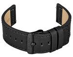 FIREFOX Uhrenarmband Leder schwarz 22mm Dornschließe schwarz LB-01-A22b