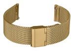 FIREFOX XL-Uhrenarmband Milanaise Meshband 20mm gelb gold MSB-02-D20