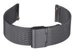 FIREFOX XL-Uhrenarmband Milanaise Meshband 20mm schwarz MSB-02-C20
