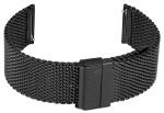 FIREFOX Uhrenarmband Milanaise Meshband 24mm schwarz MSB-01-C24