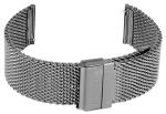 FIREFOX Uhrenarmband Milanaise Meshband 22mm Edelstahl MSB-01-B22