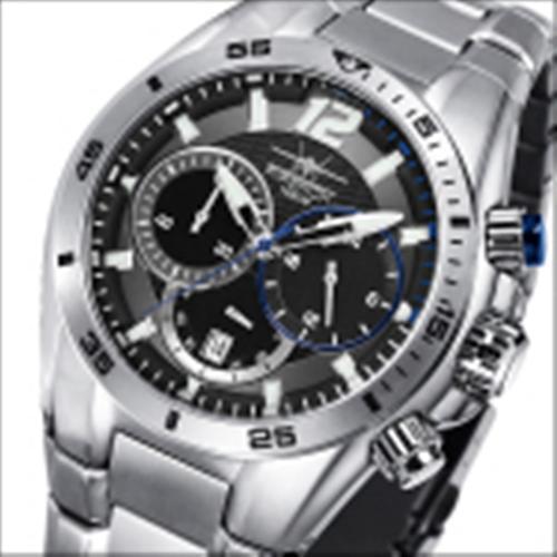 FIREFOX SKYWOLF Edelstahl Chronograph FFS200-102a schwarz/blau