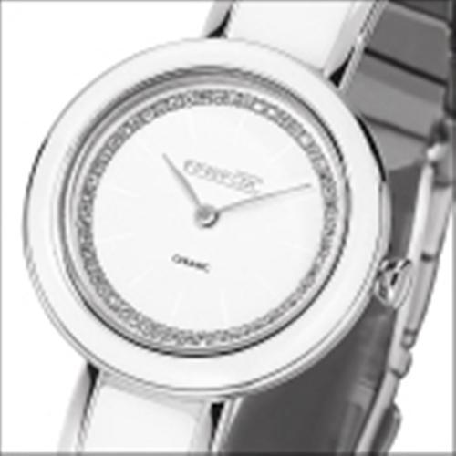 FIREFOX Damenuhr Zirkoniasteine Keramik Edelstahl FFS1020-101 weiß