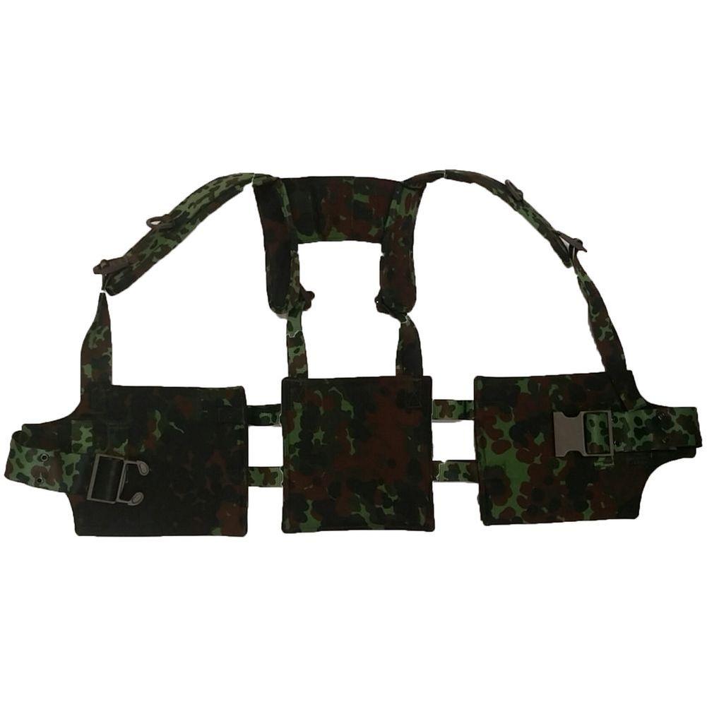 Belgische Armee Koppeltragegestell Tragezeug Koppeltragesatz flecktarn neu