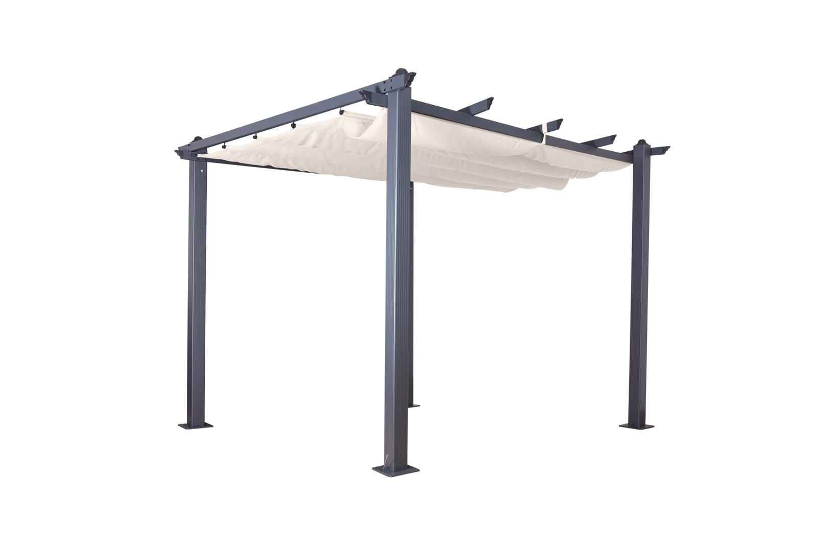pavillon kairo 3 x 3 pergola sonnenschutz dach terasse. Black Bedroom Furniture Sets. Home Design Ideas