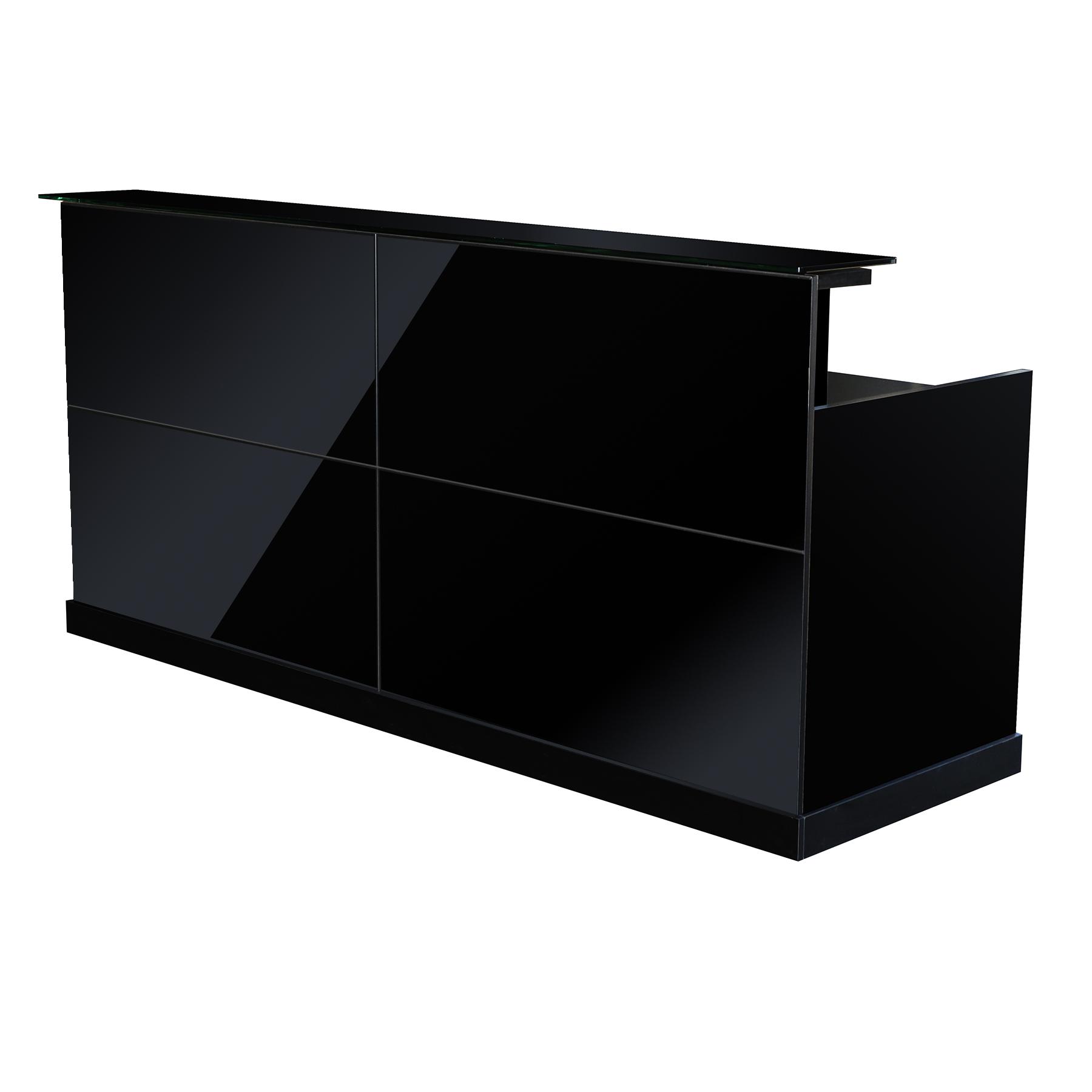 b rom bel theke empfang empfangstheke z rs b roausstattung schwarz von jet line ebay. Black Bedroom Furniture Sets. Home Design Ideas