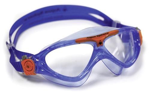 Aqua Sphere Schwimmbrille VISTA JUNIOR für Kinder klar | blue/orange