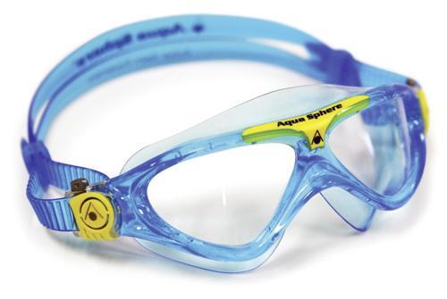 Aqua Sphere Schwimmbrille VISTA JUNIOR für Kinder klar | aqua/yellow