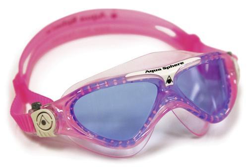 Aqua Sphere Schwimmbrille VISTA JUNIOR für Kinder getönt | pink/white