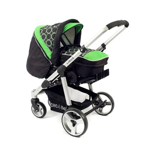 Chic 4 Baby Alu-Kombi-Kinderwagen Linus Orbit green 150 45