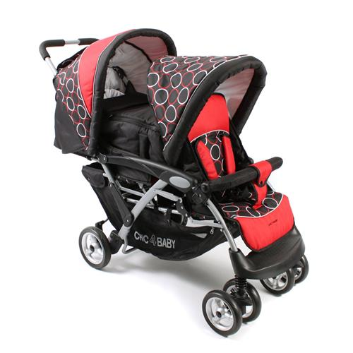 Chic 4 Baby Alu-Kinderwagen Geschwisterwagen Duo Orbit red 274 44