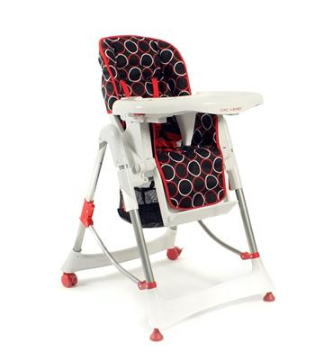 Chic 4 Baby Alu-Kinder-Hochstuhl Orbit red 335 44