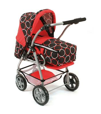 Bayer CHIC 2000 3 in 1 Kombi-Royal-Puppenwagen Orbit red 579 44