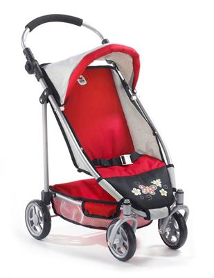 Bayer CHIC 2000 Buggy Puppenwagen Lupo Classic Line rot 615-23