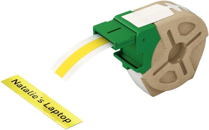 Leitz Etiketten 12mm x 10m Plastik Gelb selbstklebend 7015-00-15