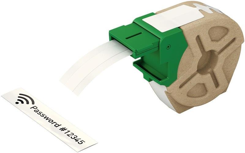 Leitz Etiketten 12mm x 10m Plastik Weiß selbstklebend 7015-00-01