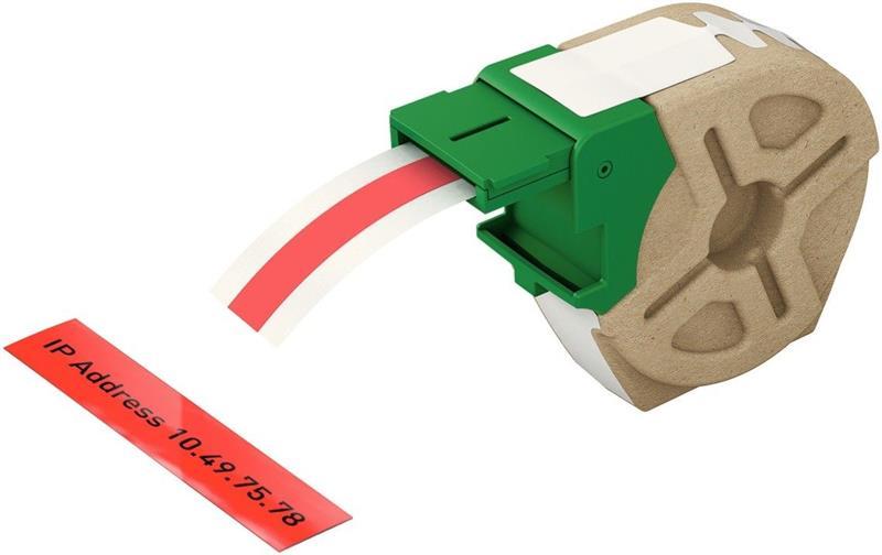 Leitz Etiketten 12mm x 10m Plastik Rot selbstklebend 7015-00-25