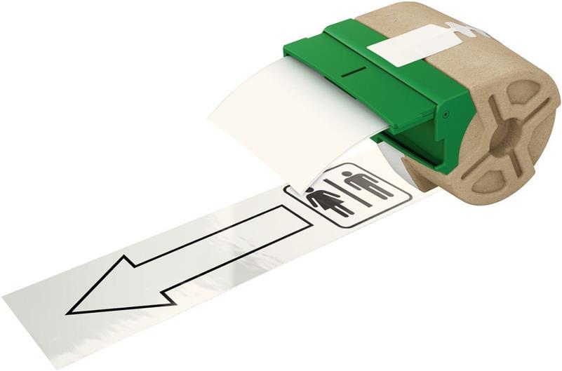 Leitz Etiketten 88mm x 10m Plastik Weiß selbstklebend 7016-00-01