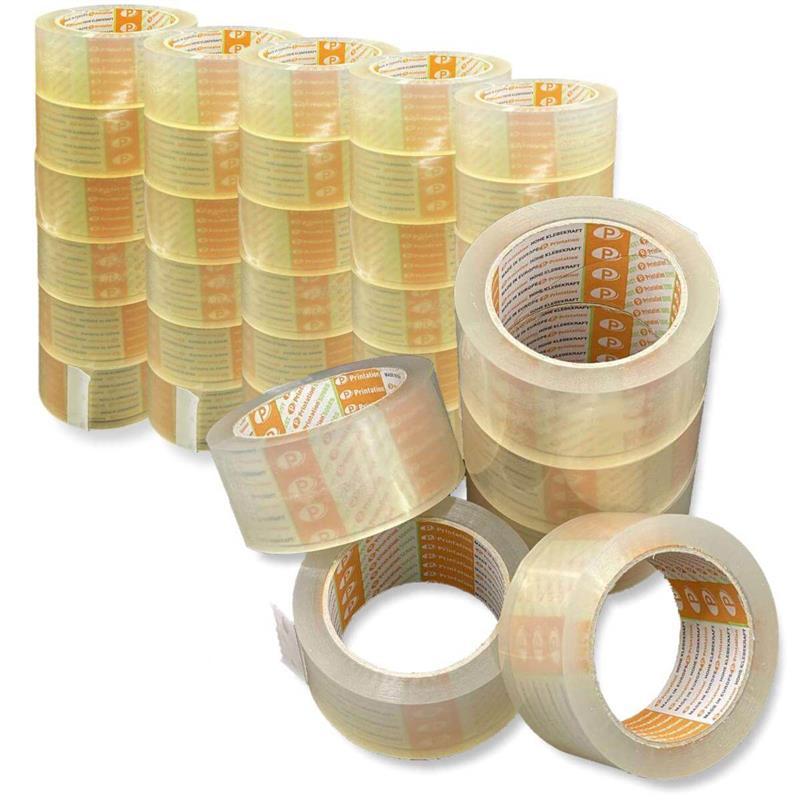 Printation 36er Profi Packband Set 50mm x 66m Klebeband transparent strong